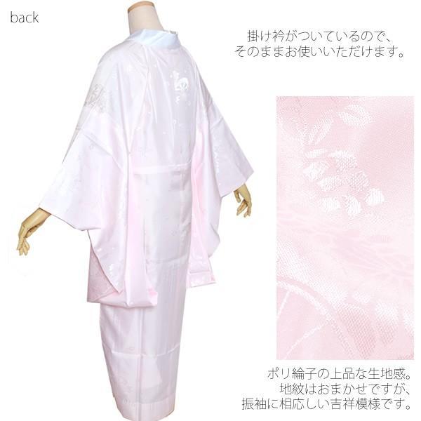 二尺袖 お仕立て上がり襦袢単品「薄ピンク色」 M、L 掛け衿付き ポリエステル襦袢 長襦袢ss1909wkm40 kimonomachi 02