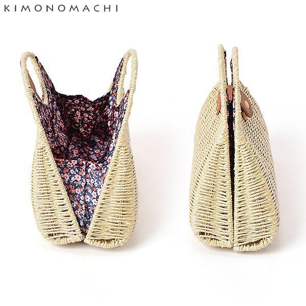 編み籠 バッグ単品「水玉、蝶々、小花」 編み籠バッグ 浴衣バッグ 浴衣巾着