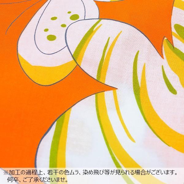 浴衣 こども 浴衣セット「オレンジ蝶々」レトロモダン 110、120、130、140、150 子供浴衣セット ゆかた キッズ浴衣セット|kimonomachi|05