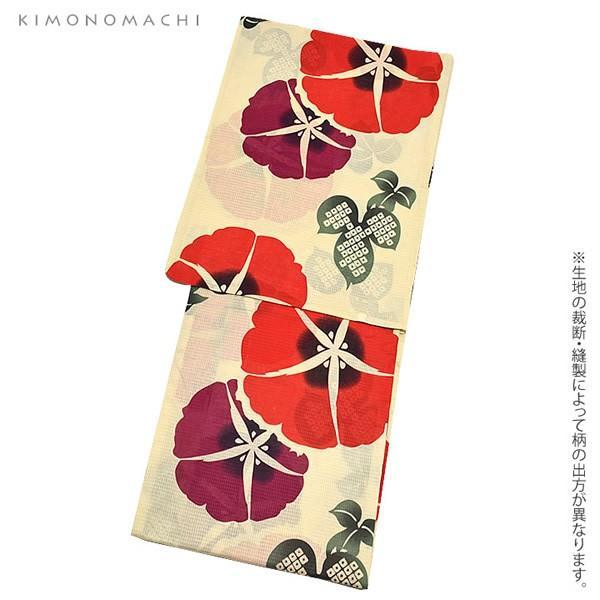浴衣 レディース セット オリジナル 「赤色 朝顔」綿 S F TL LL 女性浴衣セット 夏祭り 盆踊りに お仕立て上がりss2012ykl50|kimonomachi|04