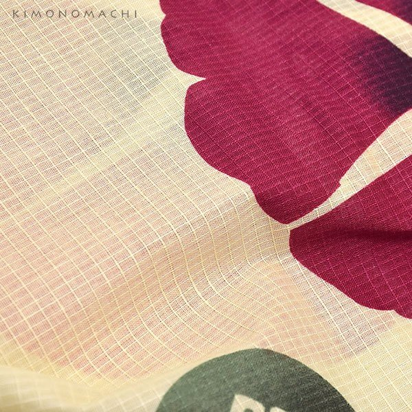 浴衣 レディース セット オリジナル 「赤色 朝顔」綿 S F TL LL 女性浴衣セット 夏祭り 盆踊りに お仕立て上がりss2012ykl50|kimonomachi|05