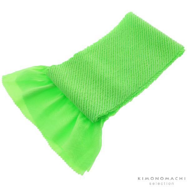 総絞り 帯揚げ「グリーン」 七五三に 正絹帯揚げ|kimonomachi