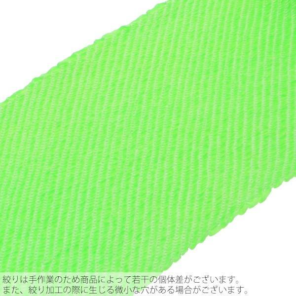 総絞り 帯揚げ「グリーン」 七五三に 正絹帯揚げ|kimonomachi|03