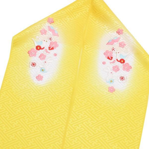 刺繍 半衿「黄色ぼかし おもちゃ柄の刺繍」 七五三に 正絹半衿|kimonomachi|02
