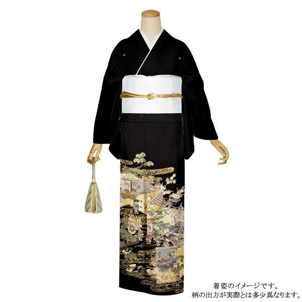 お仕立て上がり 黒留袖単品「屏風、御所解き」 紋入れ代込み 正絹着物 留袖|kimonomachi
