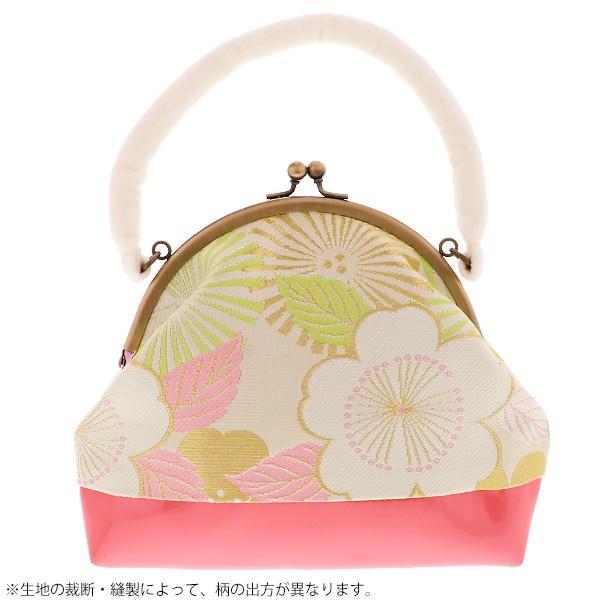 七五三 草履バッグセット「白×ピンク色 桜と松葉」女の子の着物 乙葉 七五三草履 7歳向け HB-2|kimonomachi|02