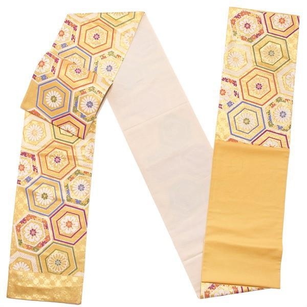 振袖 袋帯「ゴールド 亀甲」振袖に 未仕立て 礼装帯 振袖帯 kimonomachi 02