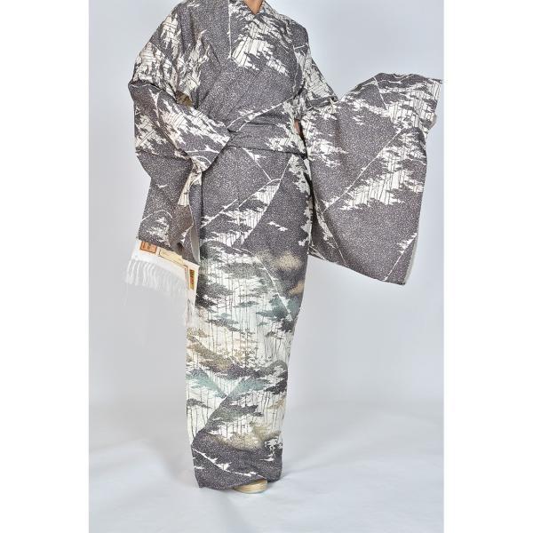 本場牛首紬 特選逸品訪問着|kimonotanaka|02