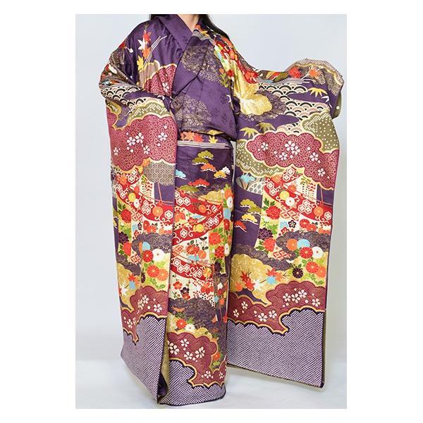 染の名門【青柳】最高級逸品振袖・紫地古典柄|kimonotanaka|02
