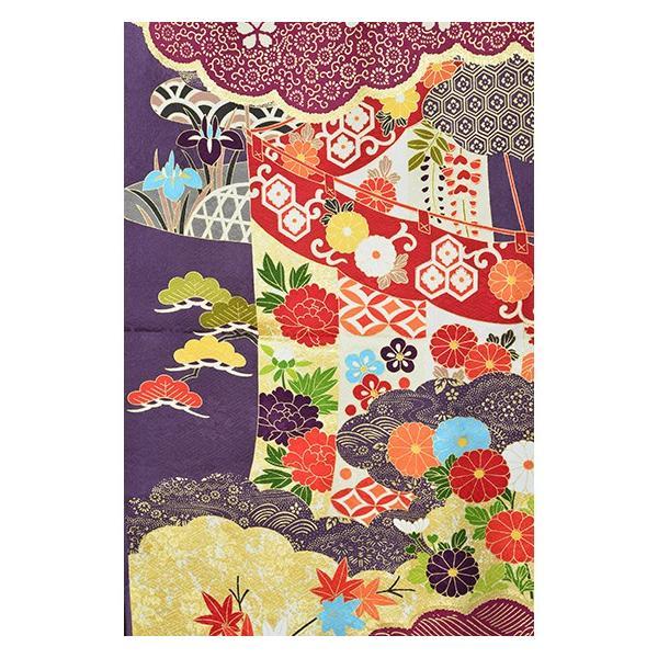 染の名門【青柳】最高級逸品振袖・紫地古典柄|kimonotanaka|03