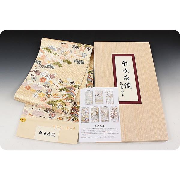 西陣老舗 織匠小平 能衣唐織 宝尽くしに鶴の舞|kimonowashou