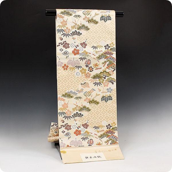 西陣老舗 織匠小平 能衣唐織 宝尽くしに鶴の舞|kimonowashou|02