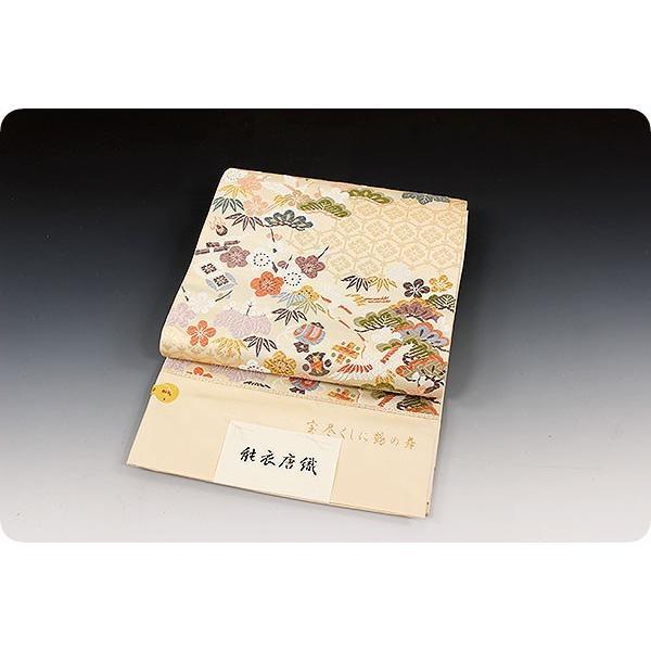 西陣老舗 織匠小平 能衣唐織 宝尽くしに鶴の舞|kimonowashou|03