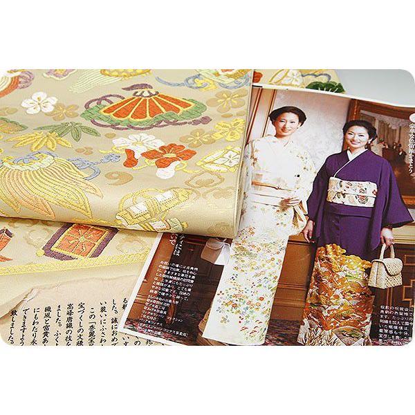 正絹西陣袋帯 白寿苑謹製 秀麗宝尽し文  美しいキモノ掲載|kimonowashou|05