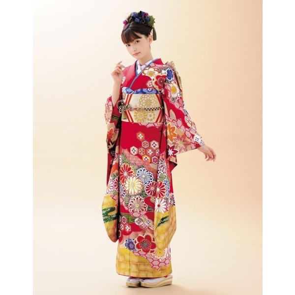 振袖 正絹 成人式 【赤 古典柄 新作振袖 BLOOM お仕立て付き】|kimonowashou