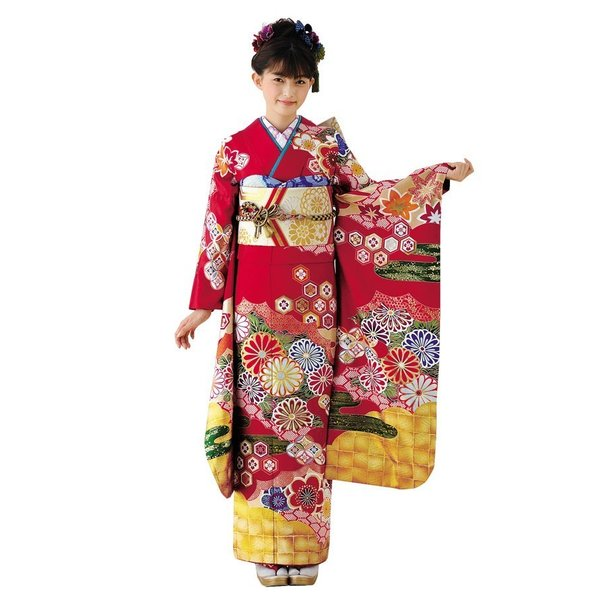 振袖 正絹 成人式 【赤 古典柄 新作振袖 BLOOM お仕立て付き】|kimonowashou|02