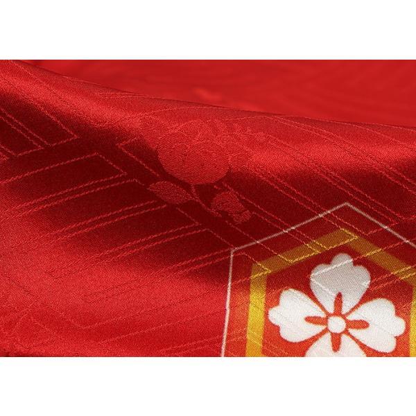 振袖 正絹 成人式 【赤 古典柄 新作振袖 BLOOM お仕立て付き】|kimonowashou|09