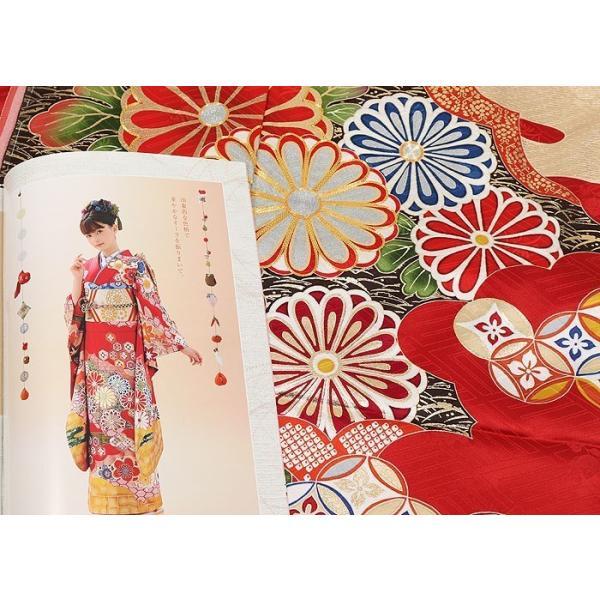 振袖 正絹 成人式 【赤 古典柄 新作振袖 BLOOM お仕立て付き】|kimonowashou|10