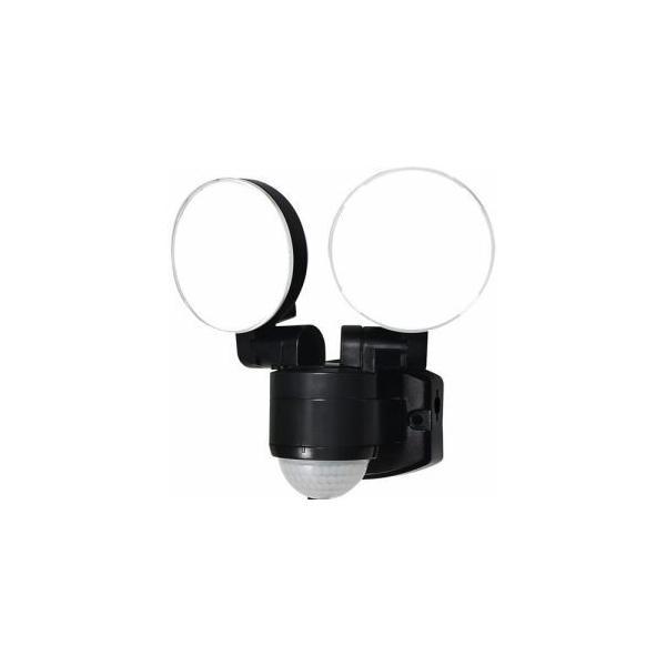 「納期約1〜2週間」ELPA ESL-SS412AC 屋外用LEDセンサーライト AC電源 2灯 白色/コンセント式 ESLSS412AC