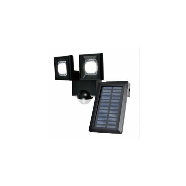「納期約1〜2週間」ELPA ESL-N112SL 屋外用LEDセンサーライト ソーラー式 2灯 白色/ソーラー式 ESLN112SL