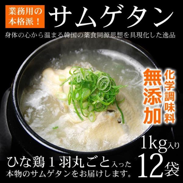 業務用韓国宮廷料理 サンゲタン レトルト1kg×12袋 (サムゲタン 参鶏湯) 【常温・冷蔵・冷凍可】【送料無料】|kimuyase