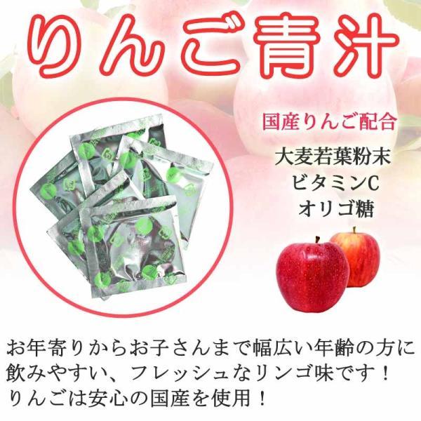 3種類のフルーツ青汁 お試し のみくらべセット りんご オレンジ ライチ|kinchan|03