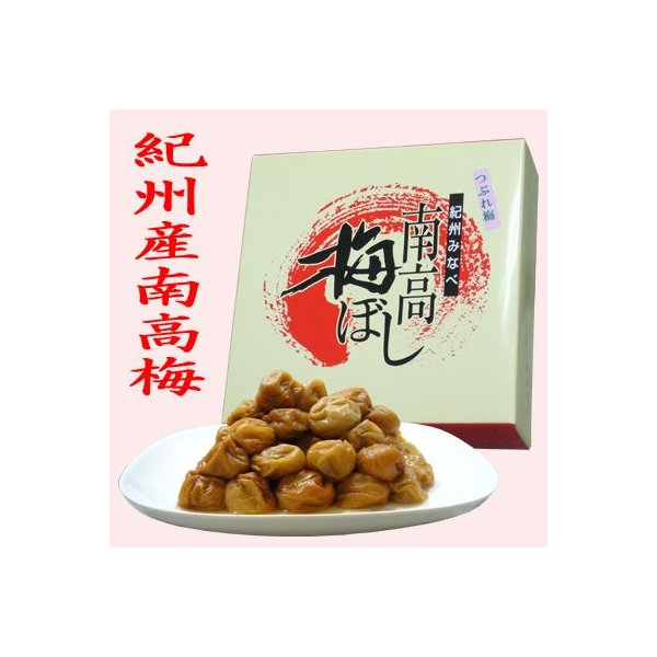 紀州 南高梅 ハチミツ味 1kg (つぶれ梅) / 梅干