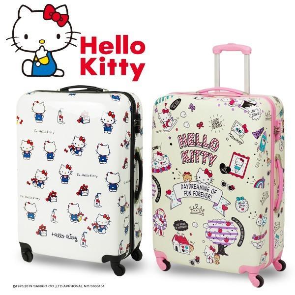 ハローキティ スーツケース TSAロック搭載 超軽量 90L 大型 Lサイズ###キティケースL###