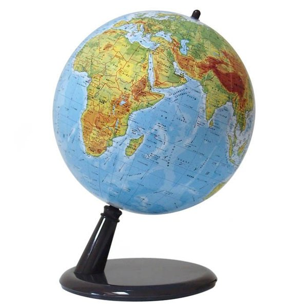 地球儀 WATANABE 渡辺教具製作所 地球儀 コンティネンツ 地勢タイプ プラスチック台 (No.2001)