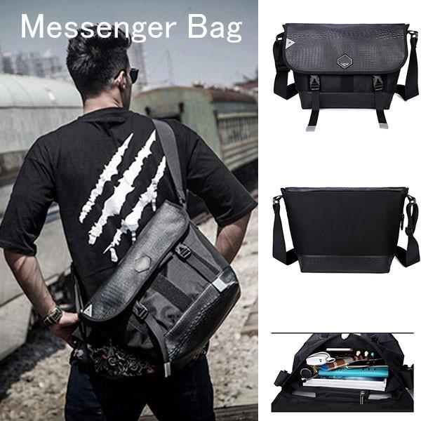 メッセンジャーバッグ メンズ ショルダーバッグ レディース ボディバッグ 斜めがけバッグ 鞄 自転車 通勤 通学 軽量 大容量 アウトドア|kingen