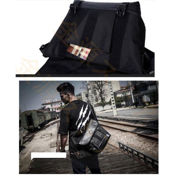 メッセンジャーバッグ メンズ ショルダーバッグ レディース ボディバッグ 斜めがけバッグ 鞄 自転車 通勤 通学 軽量 大容量 アウトドア|kingen|06