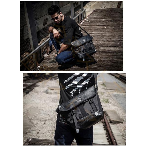 メッセンジャーバッグ メンズ ショルダーバッグ レディース ボディバッグ 斜めがけバッグ 鞄 自転車 通勤 通学 軽量 大容量 アウトドア|kingen|07
