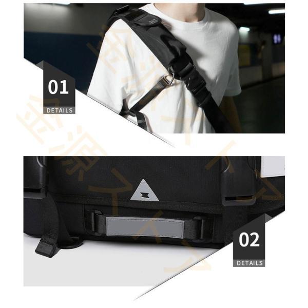 メッセンジャーバッグ メンズ ショルダーバッグ レディース ボディバッグ 斜めがけバッグ 鞄 自転車 通勤 通学 軽量 大容量 アウトドア kingen 05