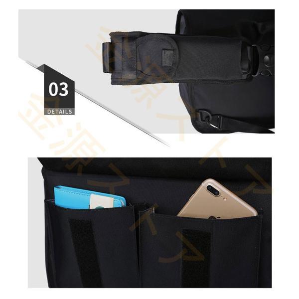 メッセンジャーバッグ メンズ ショルダーバッグ レディース ボディバッグ 斜めがけバッグ 鞄 自転車 通勤 通学 軽量 大容量 アウトドア kingen 06