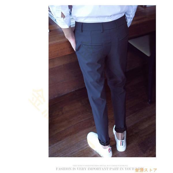 チノパン メンズ スキニーパンツ ストレッチ テーパードパンツ 春 夏 秋 ビジネス 男性用 紳士 スリム美脚 オシャレ|kingen|07
