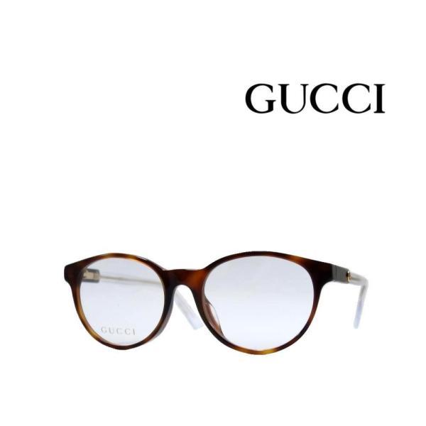 【GUCCI 】 グッチ メガネフレーム GG0487OJ 003 ハバナ/クリア アジアンフィット 国内正規品