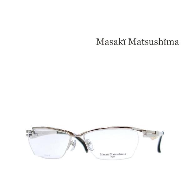 【Masaki Matsushima】 マサキ マツシマ メガネフレーム MF-1235 COL1 シルバー・ゴールド 日本製