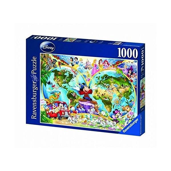 Ravensburger ディズニー ジグソーパズル 1000ピース 世界地図