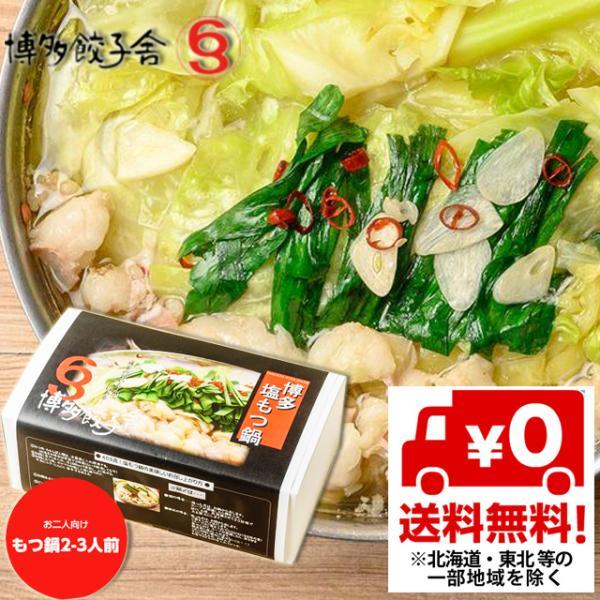 送料無料 博多餃子603 博多塩もつ鍋セット(2〜3人前) 産地直送 代引・同梱不可