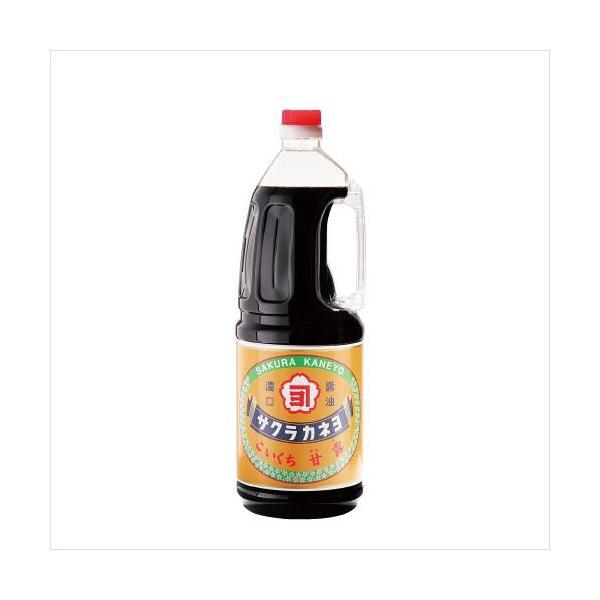 サクラカネヨ 濃口醤油 甘露 1.8L[吉村醸造/鹿児島]