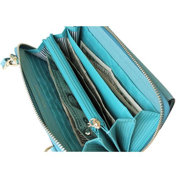 ミニショルダー ショルダーバッグ お財布ポシェット レディース 財布 長財布 二つ折り 斜めがけ スマホ 人気 携帯 多機能 多収納 かわいい リボン マピッシュ|kinmokusei|05