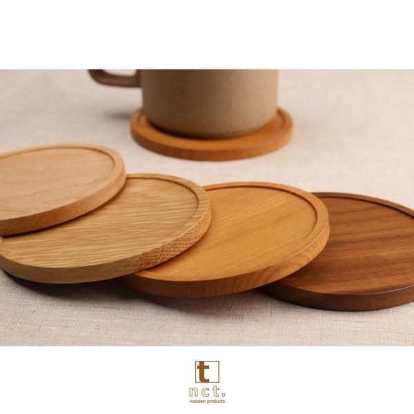 木のコースター ラウンド&スクウェアタイプ 名入れ対応可 天然銘木使用|kinokura|05