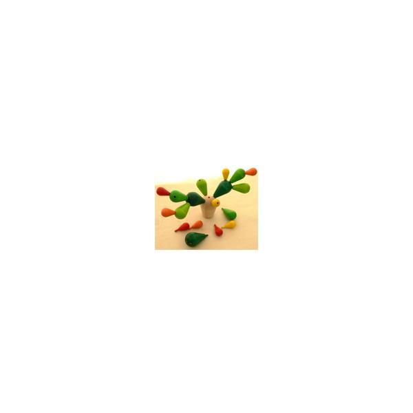 木のおもちゃ Plantoys プラントイ サボテンバランスゲーム kinoomocha 03