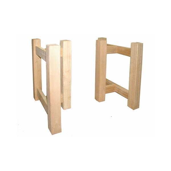 角柱兼用脚 ラバーウッド ゴム材 80mm角 3本柱 2個組 国産 日本製