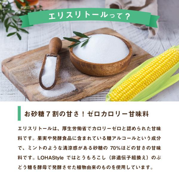 エリスリトール1kg 希少糖 糖質制限 調味料 カロリーゼロ 天然由来甘味料 自然由来 LOHAStyle|kinousei|04