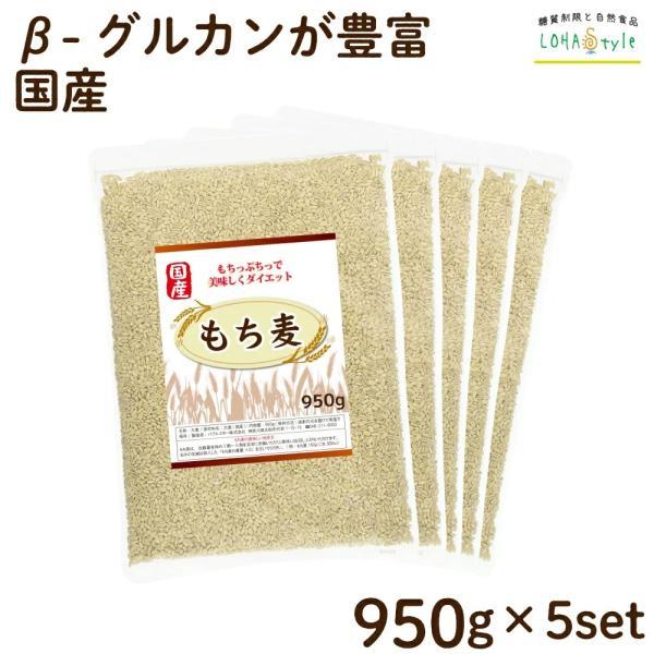 もち麦国産4750g(950g×5袋) モチプリで美味しく健康生活 ご飯に混ぜる麦