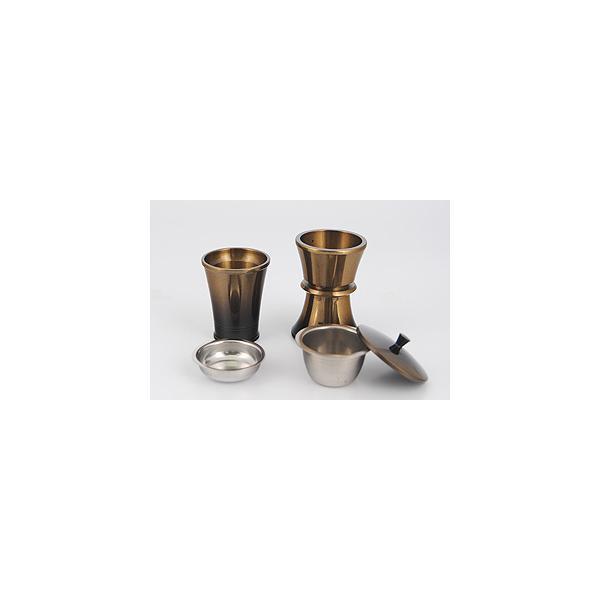 銅器メタル型お水入れ・ご飯入れ サイズ:小