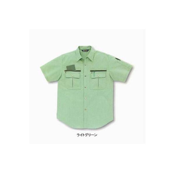 サンエス WA827(BC827) 半袖シャツ ポプリン(綿60%・ポリエステル40%) ストレッチ 帯電防止素材