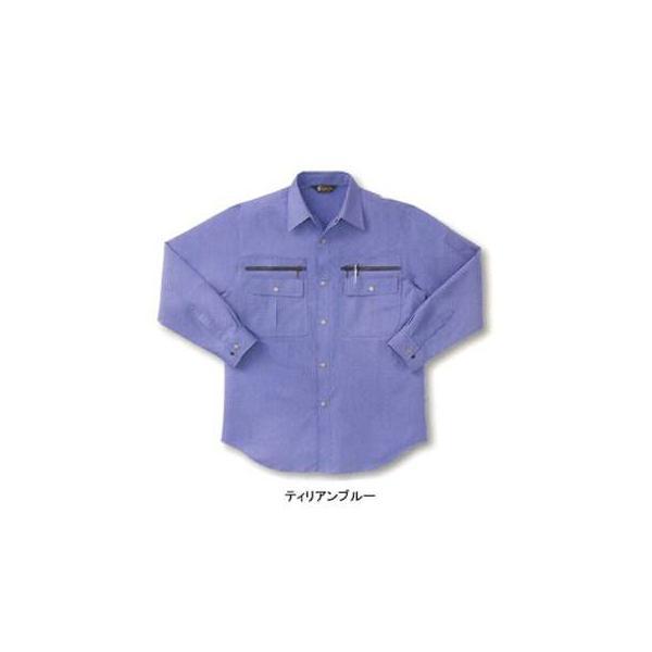 サンエス WA829(BC829) 長袖シャツ ポプリン(綿60%・ポリエステル40%) ストレッチ 帯電防止素材