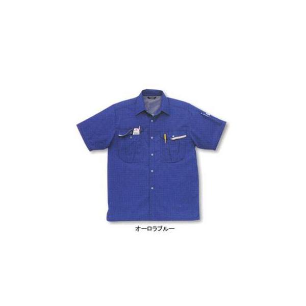 サンエス WA10017(AD10017) 半袖シャツ ポーラ(ポリエステル55%・綿45%) ストレッチ 帯電防止素材